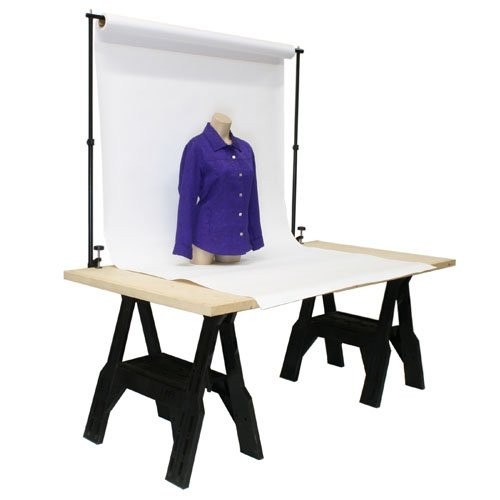 Adjustable Tabletop Background Support Stand Product Photography 72 x 48 inches by Kaezi