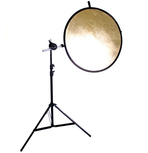 "43"" 5in1 Round Reflector with Stand and Premium Reflector Arm"