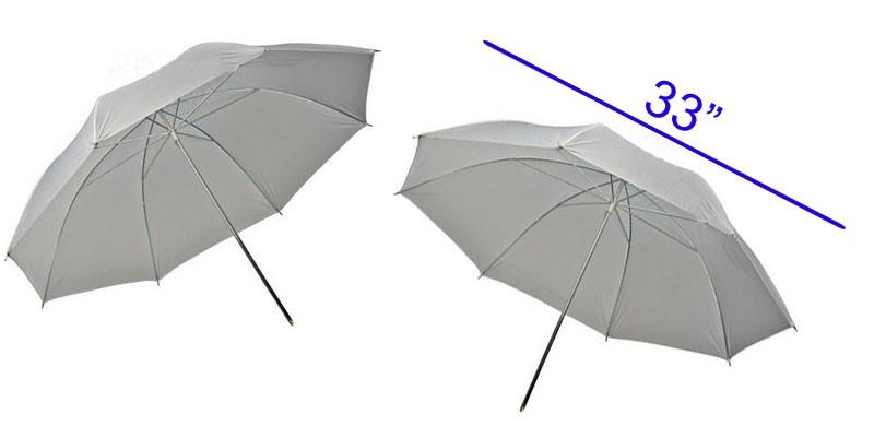 (2) Photo Studio Snow White Umbrella Reflector