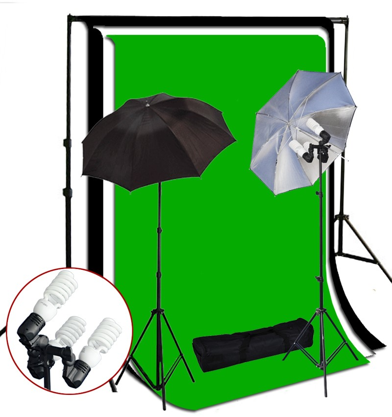 1200 Watt 3 Bulb Holder Continuous Lighting 10x10 ft  Photo Studio Kit TR-03