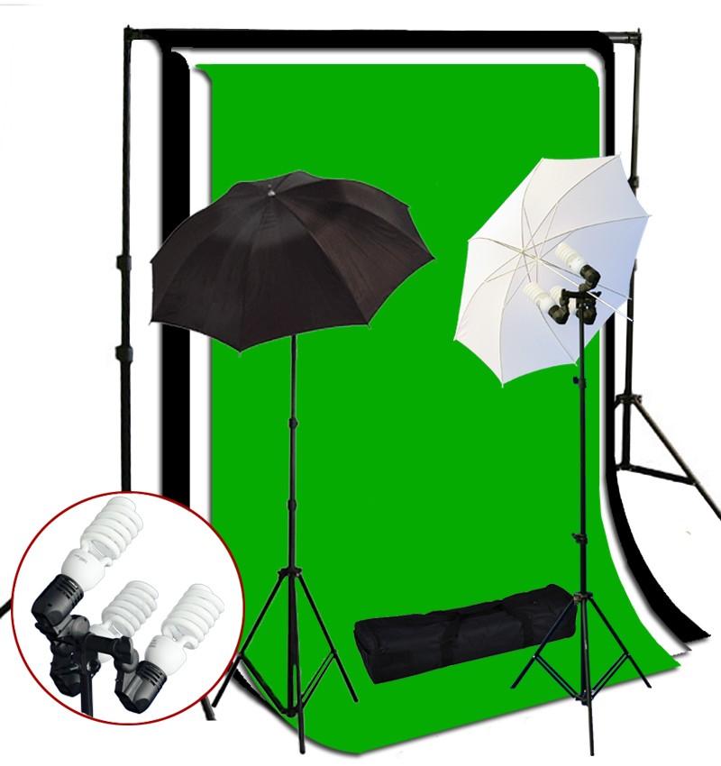 1200 Watt 3 Bulb Holder Continuous Lighting 10x10 ft  Photo Studio Kit TR-02