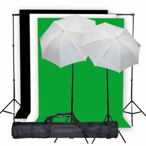 800 Watt Continuous Lighting 10x20 ft Photo Studio Kit K04