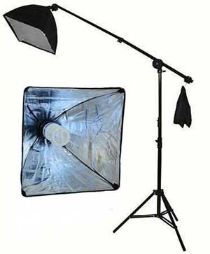 400W Continuous Lighting Hairlight Boom Set, Weight Bag Kit