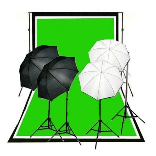 1600 Watt Continuous Lighting 10x10 ft  Photo Studio Kit QU-01
