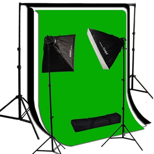 2000 Watt Photo Studio Lighting Softbox Video Light Kit & 10x10 ft Background Set  SB_BG1
