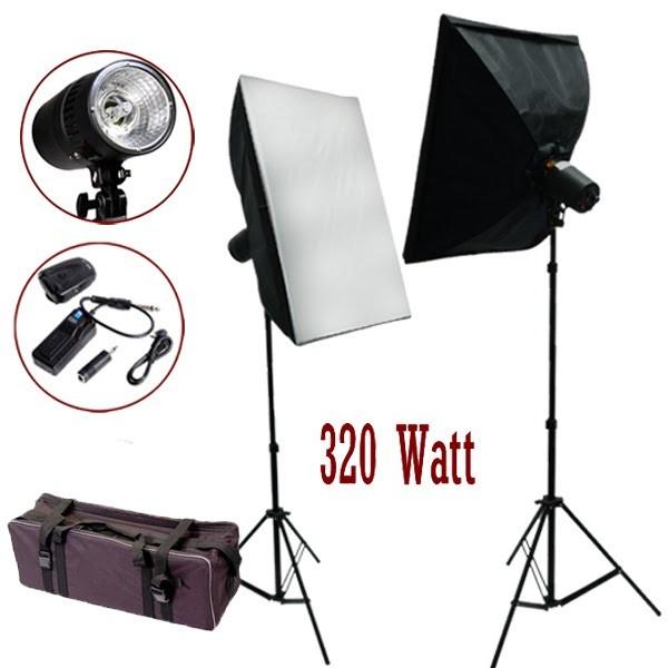 320 Watt Photo Studio MonoLight Strobe Flash Softbox Lighting Umbrella Kit