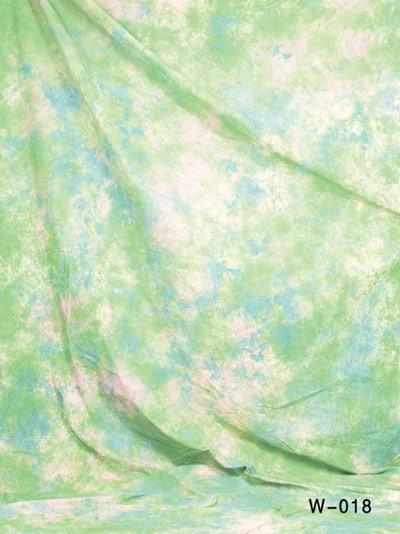 6x9 Ft. Tie-Dye Green Muslin Photography Backdrop W018