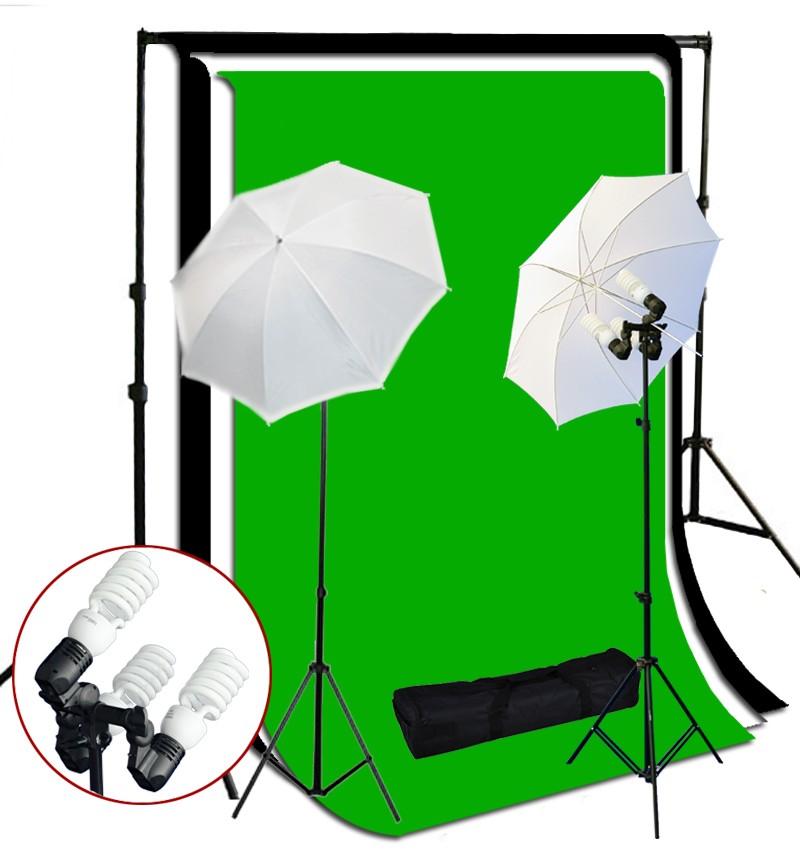 1200 Watt 3 Bulb Holder Continuous Lighting 10x10 ft  Photo Studio Kit TR-01