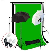 1200 Watt 3 Bulb Holder Continuous Lighting 10x10 ft  Photo Studio Kit TR-02