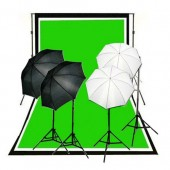 1600 Watt Continuous Lighting 10x10 ft  Photo Studio Kit QU-01