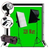 320W Flash/Strobe Softbox Lighting 10x10 ft Photo Studio Kit K02-S-SOFTBOX