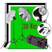 320W Flash/Strobe Lighting 10x10 ft Photo Studio Kit K02-S