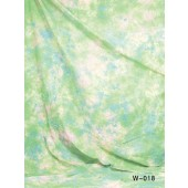 6x9 Ft. Tie-Dye Green Muslin Photography Backdrop W018