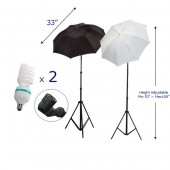 (2) 100 inches Photo Light Stand Umbrella Lights